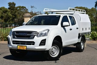 2016 Isuzu D-MAX MY17 SX Crew Cab 4x2 High Ride White 6 Speed Sports Automatic Cab Chassis.