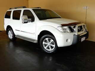 2012 Nissan Pathfinder R51 Series 4 TI 550 (4x4) White 7 Speed Automatic Wagon.