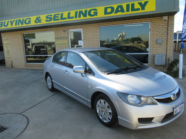 Used Honda Civic 8th Gen VTi Mandurah, 2010 Honda Civic 8th Gen VTi Silver 5 Speed Automatic Sedan
