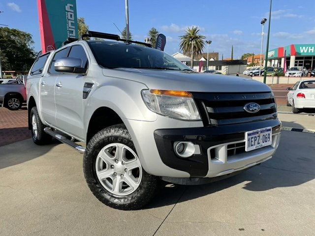 Used Ford Ranger PX XLT Double Cab Victoria Park, 2014 Ford Ranger PX XLT Double Cab Silver 6 Speed Manual Utility