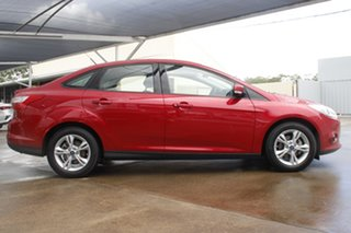 2012 Ford Focus LW MkII Trend PwrShift Red 6 Speed Sports Automatic Dual Clutch Sedan.