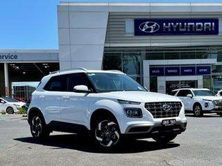 2020 Hyundai Venue QX.V3 MY21 Elite ((Sunroof) Polar White 6 Speed Automatic Wagon.