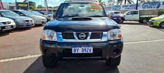 2010 Nissan Navara D22 MY2009 ST-R Black 5 Speed Manual Utility.