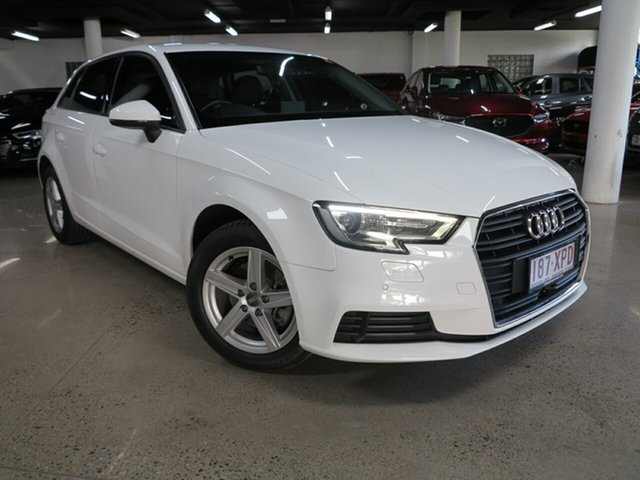 Used Audi A3 8V MY17 Sportback S Tronic Albion, 2017 Audi A3 8V MY17 Sportback S Tronic White 7 Speed Sports Automatic Dual Clutch Hatchback