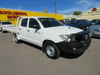 2010 Toyota Hilux KUN16R 09 Upgrade SR White 5 Speed Manual Dual Cab Pick-up.