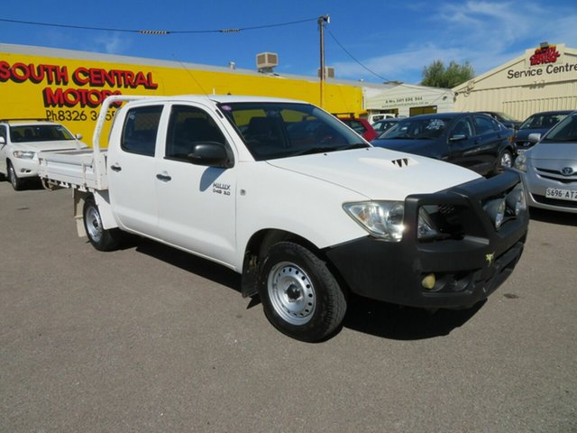 Used Toyota Hilux KUN16R 09 Upgrade SR Morphett Vale, 2010 Toyota Hilux KUN16R 09 Upgrade SR White 5 Speed Manual Dual Cab Pick-up
