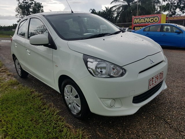 Used Mitsubishi Mirage LA MY14 ES Pinelands, 2014 Mitsubishi Mirage LA MY14 ES White 5 Speed Manual Hatchback