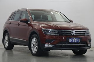 2017 Volkswagen Tiguan 5N MY17 162TSI DSG 4MOTION Highline Red 7 Speed Sports Automatic Dual Clutch