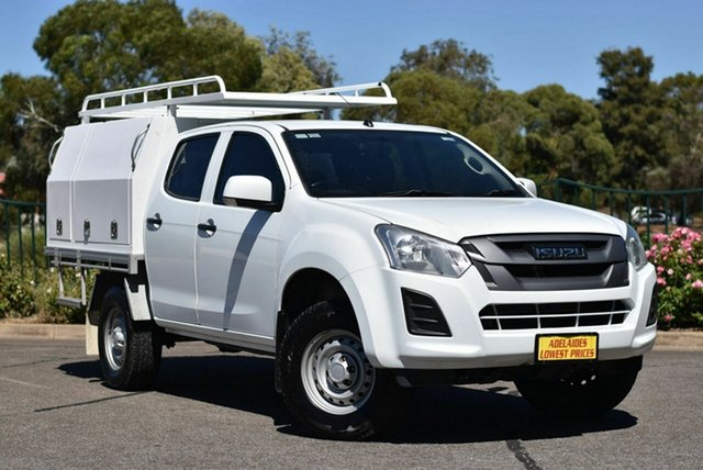 Used Isuzu D-MAX MY17 SX Crew Cab 4x2 High Ride Enfield, 2016 Isuzu D-MAX MY17 SX Crew Cab 4x2 High Ride White 6 Speed Sports Automatic Cab Chassis