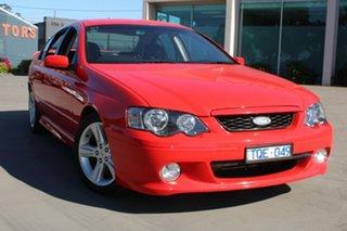 2005 Ford Falcon BA MkII XR6 Red 4 Speed Auto Seq Sportshift Sedan.