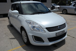 2014 Suzuki Swift FZ MY14 GL White 5 Speed Manual Hatchback