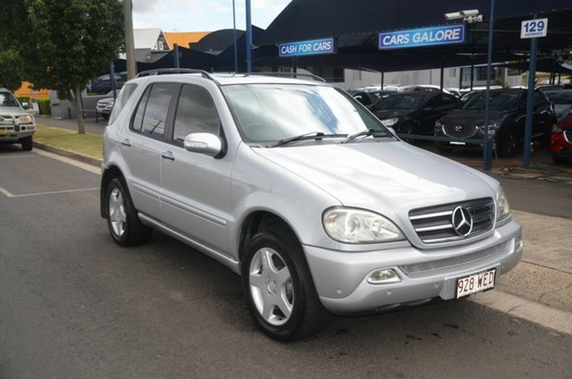 Used Mercedes-Benz ML500 W163 Luxury (4x4) Toowoomba, 2003 Mercedes-Benz ML500 W163 Luxury (4x4) Silver 5 Speed Auto Tipshift Wagon