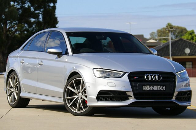 Used Audi S3 8V MY15 S Tronic Quattro Chullora, 2015 Audi S3 8V MY15 S Tronic Quattro Silver 6 Speed Sports Automatic Dual Clutch Sedan