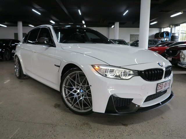 Used BMW M3 F80 LCI Competition M-DCT Albion, 2016 BMW M3 F80 LCI Competition M-DCT White 7 Speed Sports Automatic Dual Clutch Sedan