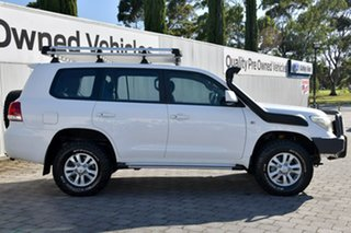 2009 Toyota Landcruiser VDJ200R MY10 GXL White 6 Speed Sports Automatic Wagon.