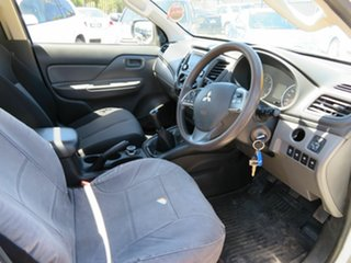 2015 Mitsubishi Triton MQ MY16 GLX (4x4) White 6 Speed Manual Cab Chassis