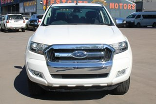 2015 Ford Ranger PX MkII XLT 3.2 (4x4) White 6 Speed Automatic Dual Cab Utility.