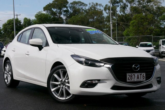 Used Mazda 3 BN5438 SP25 SKYACTIV-Drive GT Hillcrest, 2018 Mazda 3 BN5438 SP25 SKYACTIV-Drive GT White 6 Speed Sports Automatic Hatchback