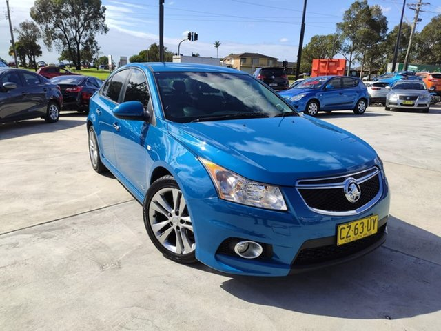 Used Holden Cruze JH Series II MY14 SRi Z Series Liverpool, 2014 Holden Cruze JH Series II MY14 SRi Z Series Blue 6 Speed Manual Sedan