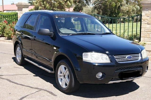 Used Ford Territory SX Ghia (RWD) Blair Athol, 2004 Ford Territory SX Ghia (RWD) Black 4 Speed Auto Seq Sportshift Wagon