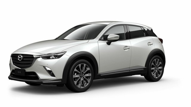 New Mazda CX-3 DK2W7A sTouring SKYACTIV-Drive FWD Toowoomba, 2021 Mazda CX-3 DK2W7A sTouring SKYACTIV-Drive FWD Snowflake White Pearl 6 Speed Sports Automatic