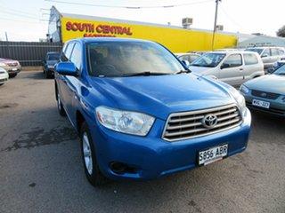 2009 Toyota Kluger GSU40R KX-R (FWD) 5 Seat Blue 5 Speed Automatic Wagon.