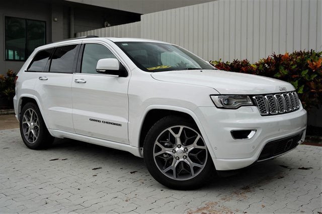Demo Jeep Grand Cherokee WK MY20 Overland Cairns, 2020 Jeep Grand Cherokee WK MY20 Overland Bright White 8 Speed Sports Automatic Wagon