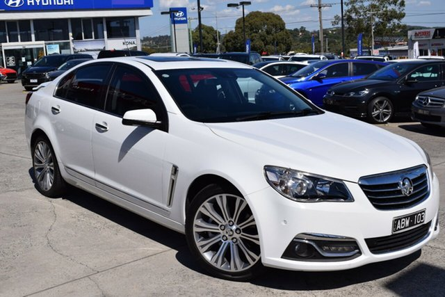 Used Holden Calais VF MY14 V Ferntree Gully, 2014 Holden Calais VF MY14 V White 6 Speed Sports Automatic Sedan