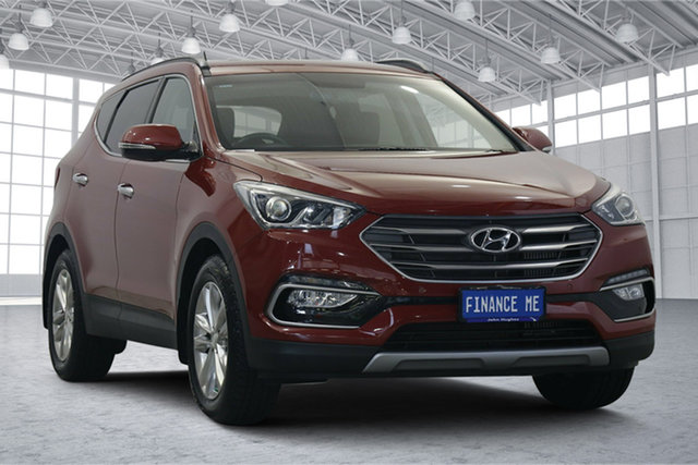 Used Hyundai Santa Fe DM3 MY17 Elite Victoria Park, 2016 Hyundai Santa Fe DM3 MY17 Elite Red 6 Speed Sports Automatic Wagon