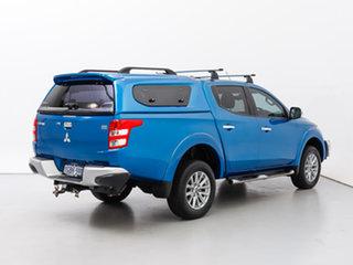 2016 Mitsubishi Triton MQ MY16 GLS (4x4) Blue 5 Speed Automatic Dual Cab Utility