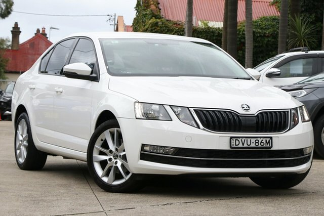 Pre-Owned Skoda Octavia NE MY18 110 TSI Mosman, 2018 Skoda Octavia NE MY18 110 TSI White 7 Speed Auto Direct Shift Sedan
