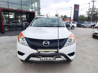 2015 Mazda BT-50 UP0YF1 XT Freestyle 4x2 Hi-Rider White 6 Speed Manual Cab Chassis