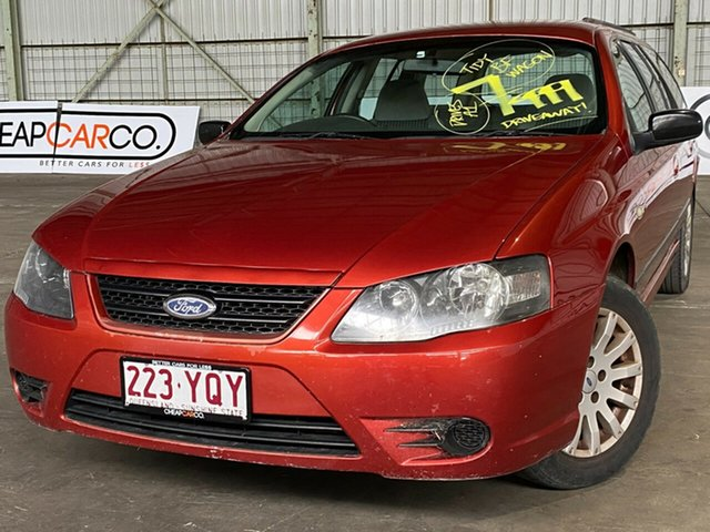 Used Ford Falcon BF Mk II XT Rocklea, 2007 Ford Falcon BF Mk II XT Orange 4 Speed Sports Automatic Wagon
