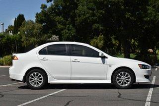 2012 Mitsubishi Lancer CJ MY12 VR White 6 Speed Constant Variable Sedan
