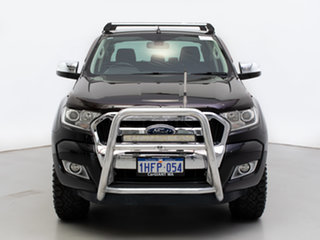 2015 Ford Ranger PX MkII XLT 3.2 (4x4) Black 6 Speed Manual Double Cab Pick Up.