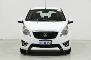 2011 Holden Barina Spark MJ CD White 5 Speed Manual Hatchback.
