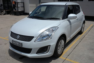 2014 Suzuki Swift FZ MY14 GL White 5 Speed Manual Hatchback.