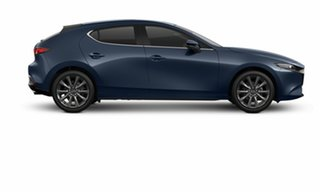 2021 Mazda 3 BP2HLA G25 SKYACTIV-Drive Evolve Deep Crystal Blue 6 Speed Sports Automatic Hatchback.