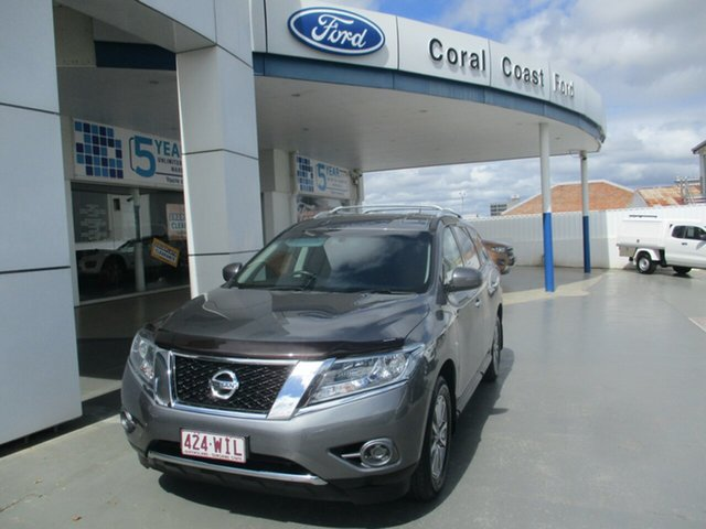 Used Nissan Pathfinder R52 MY15 ST (4x4) Bundaberg, 2016 Nissan Pathfinder R52 MY15 ST (4x4) Grey Continuous Variable Wagon