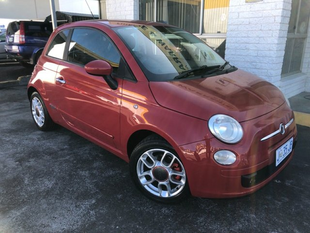 Used Fiat 500 Series 1 Sport Derwent Park, 2009 Fiat 500 Series 1 Sport Red/Black 6 Speed Manual Hatchback