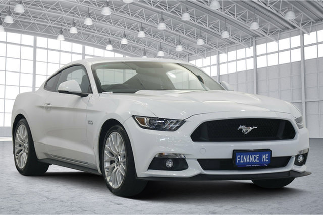 Used Ford Mustang FM 2017MY GT Fastback Victoria Park, 2016 Ford Mustang FM 2017MY GT Fastback White 6 Speed Manual Fastback
