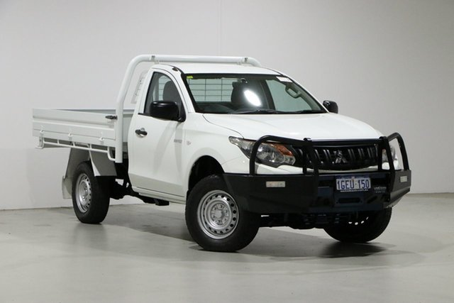 Used Mitsubishi Triton MQ MY16 GLX Bentley, 2016 Mitsubishi Triton MQ MY16 GLX White 5 Speed Automatic Cab Chassis