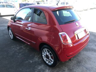 2009 Fiat 500 Series 1 Sport Red/Black 6 Speed Manual Hatchback