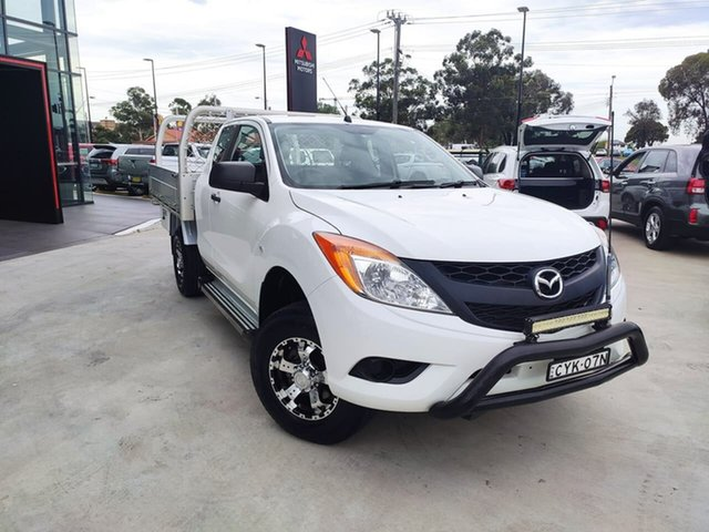 Used Mazda BT-50 UP0YF1 XT Freestyle 4x2 Hi-Rider Liverpool, 2015 Mazda BT-50 UP0YF1 XT Freestyle 4x2 Hi-Rider White 6 Speed Manual Cab Chassis
