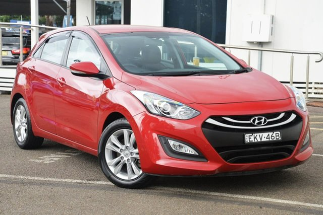 Used Hyundai i30 GD2 MY14 Trophy North Gosford, 2014 Hyundai i30 GD2 MY14 Trophy Red 6 Speed Sports Automatic Hatchback