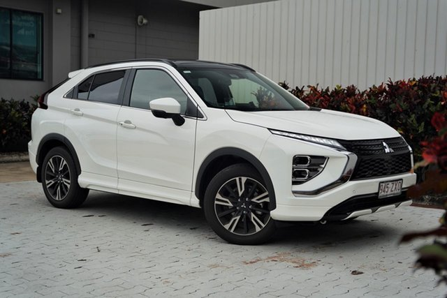 Demo Mitsubishi Eclipse Cross YB MY21 Exceed 2WD Cairns, 2020 Mitsubishi Eclipse Cross YB MY21 Exceed 2WD White 8 Speed Constant Variable Wagon