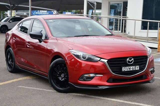 Used Mazda 3 BN5238 SP25 SKYACTIV-Drive GT North Gosford, 2017 Mazda 3 BN5238 SP25 SKYACTIV-Drive GT Red 6 Speed Sports Automatic Sedan
