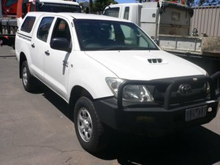 2010 Toyota Hilux KUN26R MY10 SR White 4 Speed Automatic Utility.