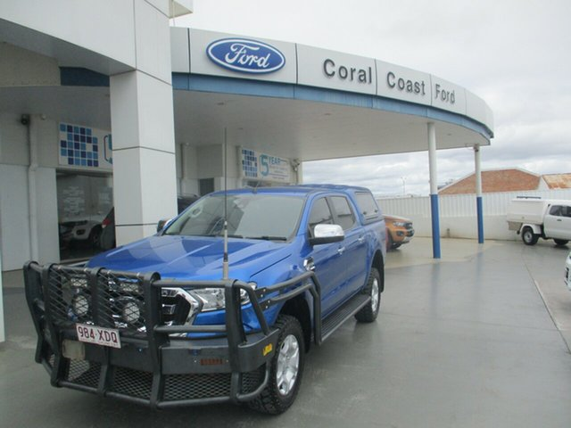 Used Ford Ranger PX MkII MY17 Update XLT 3.2 (4x4) Bundaberg, 2017 Ford Ranger PX MkII MY17 Update XLT 3.2 (4x4) Blue 6 Speed Automatic Double Cab Pick Up