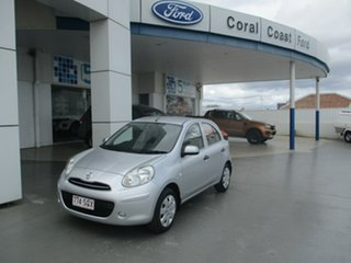 2011 Nissan Micra K13 ST-L Silver 4 Speed Automatic Hatchback.